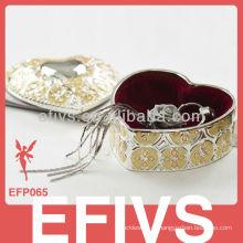 Novo design espelho popular caixa de jóias decorativas por atacado para anéis