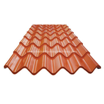 Glazed roof tile sheet making machine
