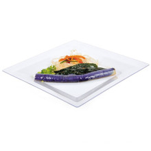 """Plastic Plate Disposable Tray 9""""Square Tray"""