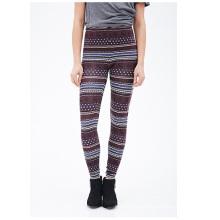 Fair Isle Leggings mit elastischer Taille