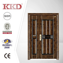 Doubled Exterior Iron Security Door KKD-312B with UV Proof Painting
