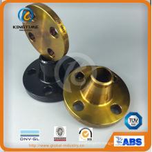 Bride de cou de soudure en acier au carbone A105 Raised Face (KT0385)