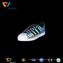 Material de calçado reflexivo iridescente popular