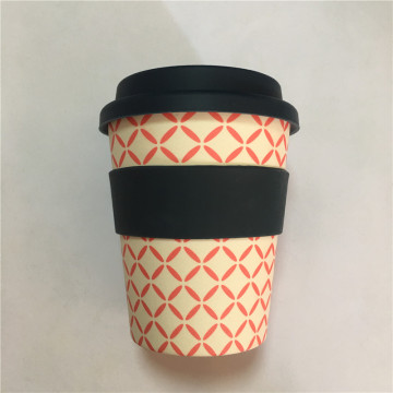 Großhandel Reise Bambusfaser wiederverwendbare Kaffeetassen