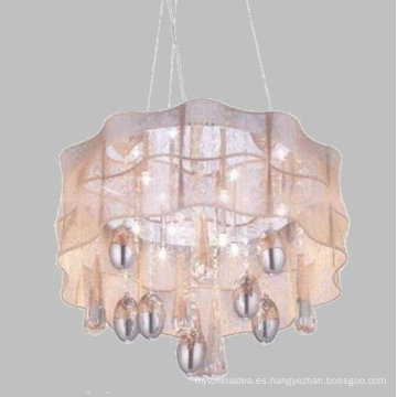 Lámpara cristalina de la lámpara pendiente de cristal más pequeña antigua popular del latón 2017