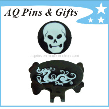 Metal Soft Enamel Hat Clip with Ball Marker (Golf-27)