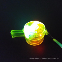 sifflet coloré led forme ronde