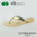 Popular Nuevo Estilo Lady Pvc Sole Flip-flop