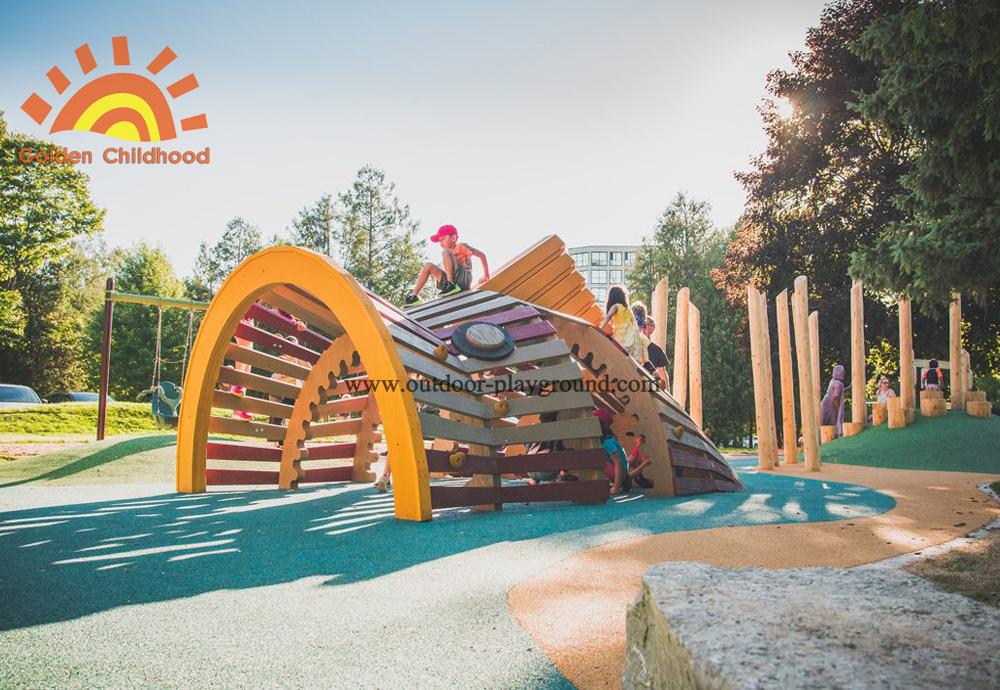 Playground Natural Wooden Sculpture Playground