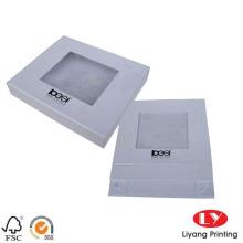 Caja de regalo de cartón con cierre de solapa magnética blanca