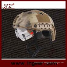 Taktische Helm militärische Pj Schutzhelm mit klarem Visier für Outdoor-Kriegsspiel