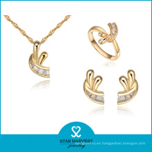 Fantasty precio barato chapado en oro anillos y colgantes joyas (J-0055)