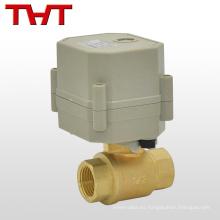 DC220V mini válvula de bola accionada eléctricamente
