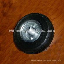 3.00-4 petite roue en caoutchouc pneumatique avec la jante de roue en acier