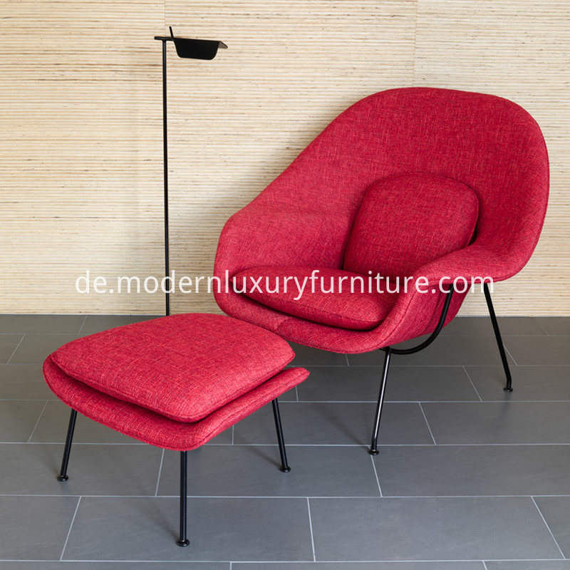 Womb_Chair_with_Ottoman_in_Fabric