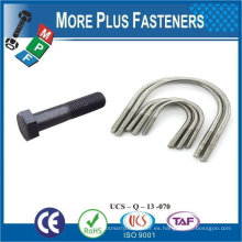 Taiwán Acero inoxidable 18-8 Cobre Latón Aluminio Latón M16 Tamaño del perno Tamaño grande U Tornillos Tornillos pequeños Tamaños