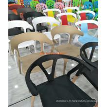 Table de salle à manger en bois 2016 à vente chaude antique minable chic avec 3 chaises