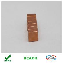 Aimant de bloc de cuivre enduit n52 pour bijoux