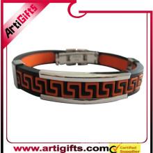 Best price cheaper logo design metal bracelet