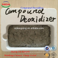 desoxidante composto para aumentar o rendimento da liga no processo de fabricação de aço