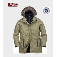 Windproof Wear Mulheres casacos de neve com capuz de pele