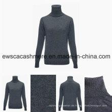 Frauen Long Sleeve Rollkragen Top Grade Pure Cashmere Sweater
