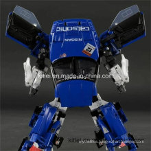 Blue ABS Christmas Gift Plastic Robot Indoor Playground Transfomer Toy