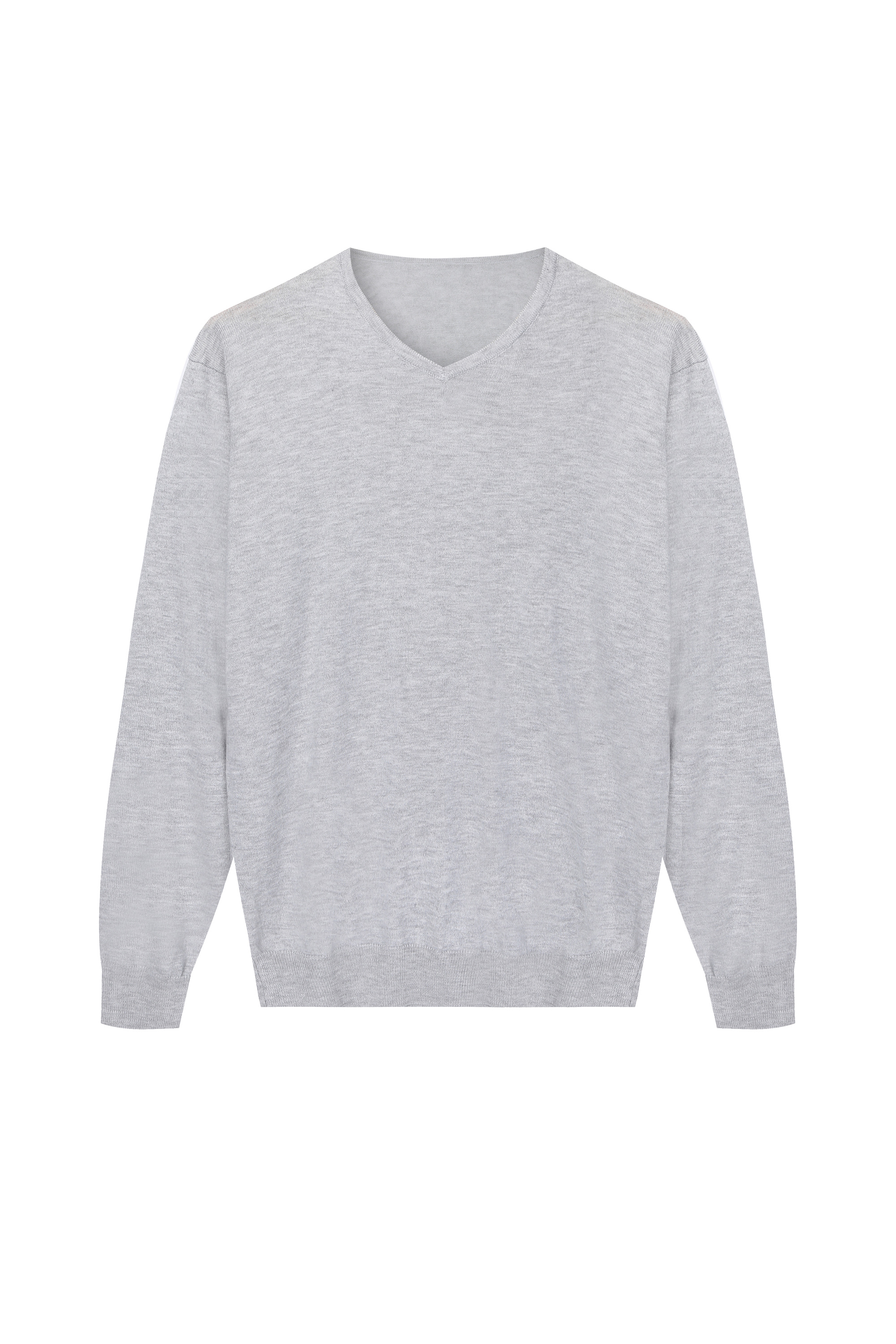 Men's Knitted Essential Cashmere Pullover V-Neck
