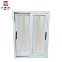 Fenêtre coulissante en aluminium à double vitrage / store à l'intérieur fenêtre à double vitrage / fenêtre de réception en verre coulissante