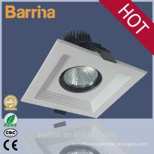 good quality white square shop led ceiling spotlight