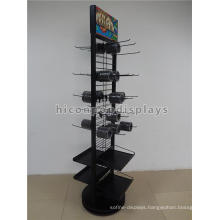 Factory Price Floorstanding Double-Sided Metal Hook Hanging Moulding Tool Parts Display Shelving
