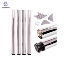 Height Adjustable Stainless Steel Round Table Leg