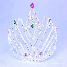 Princess Tiaras with Heart Stones Hair Accessories