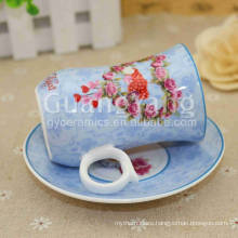 Safe Packing Porcelain Enameled Heart Shaped Tea Cups And Saucers With Superior Service