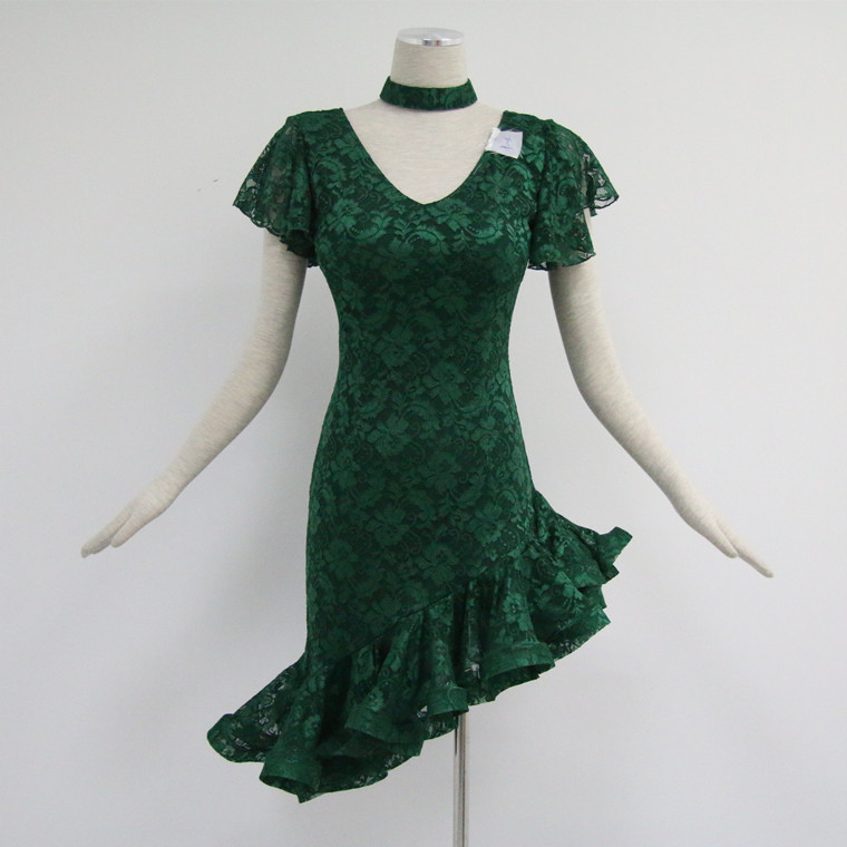 Green Latin Dance Dress