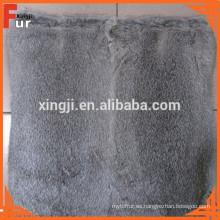 Cojín / almohada de piel, piel de conejo real