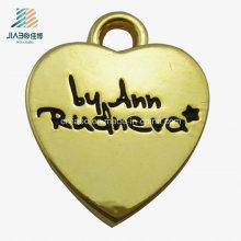 Pingente liga de zinco da jóia do metal da forma feita sob encomenda do coração do ouro para o presente da promoção