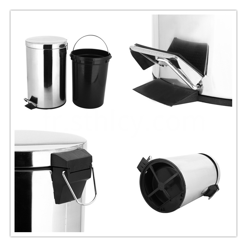 Pedal Stainless Steel Garbage Container