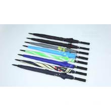 OEM авто простой ветрозащитный завод качественные рекламные ребра из стекловолокна дешевый прямой зонт для гольфа с принтами логотипов