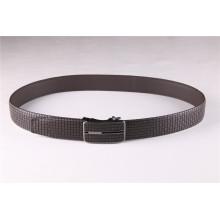 Cinturão de couro genuíno personalizado em relevo para homens