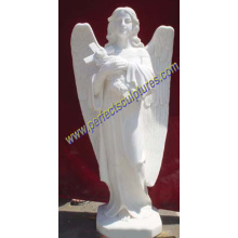 Stone Marble Angel Statue for Cemetery Tombstone Monument Headstone (SY-X1087)