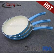 Алюминий белое керамическое сковорода