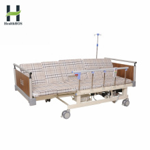 Medical manual electric integrated 5-Function sickbed with toilet