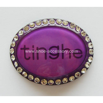 Egg-Shaped Acrylic Rhinestone Buckles