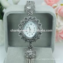 Relojes de la aleación del cuarzo de la manera de lujo al por mayor barato para las mujeres B025