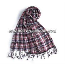 Grid viscose custom design scarf fashion