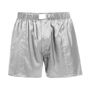 Boutonné ajusté en soie Boxer Men Draping Button Solid