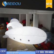 Globo inflable iluminado del helio del aire LED que anuncia dirigible del dirigible de RC