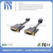 Câble de moniteur SVGA / VGA plaqué or 100% sans cuivre avec ferrites 15 pieds