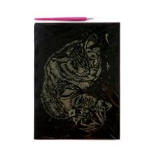 Grabado papel tarjeta de arte Artesanias tigre oro y tarjetas de rascar